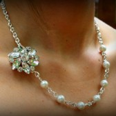 Marie White Pearl Bridesmaid Necklace