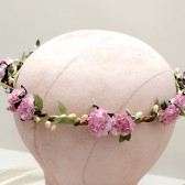 Radiant Orchid Floral Crown