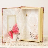 Pink Ring Bearer Book with Butterfly details