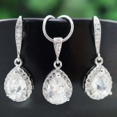 Cubic Zirconia Bridal Jewelry Set