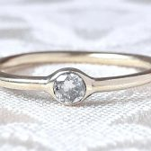 Delicate Brilliant Diamond and Solid Gold Engagement Ring by Gaia's Candy