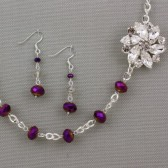 Marie Plum Bridesmaid Necklace
