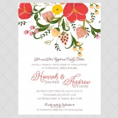 Flower Rehearsal Invitation