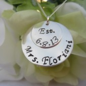 Mrs. Pendant Hand Stamped Sterling Silver Necklace