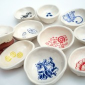 Wedding Favors Silkscreen Ceramic Bowls