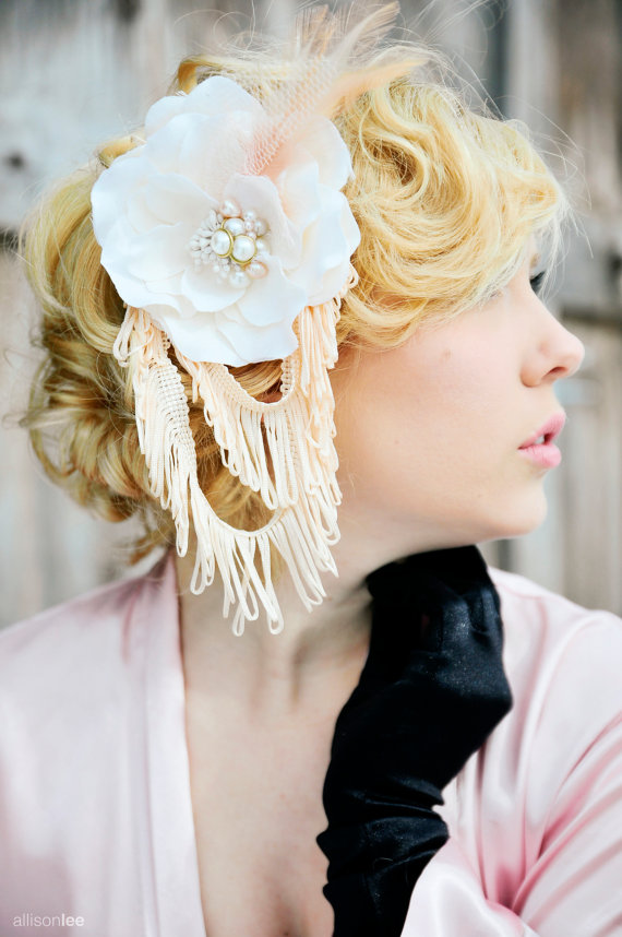 1920s flapper wedding hair accessory