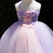 lilac flower girl tutu dress
