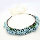 Blue Baby Breath Floral Crown
