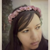 Mauve Pink Floral Crown