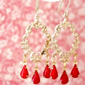 Red Chandeliers Earrings