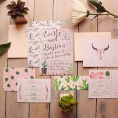 Desert Wedding Invitation - Cacti Wedding Invites