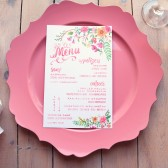 Floral Bohemian Wedding Menus