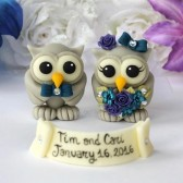 owl cake topper, custom cake topper, love bird cake topper, wedding cake topper