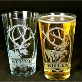 Personalized Elk Pint Glasses for Groomsmen