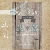 Rustic Vintage Save the Date