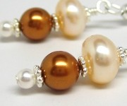 Fresh Water and Swarovski Pearls Earrings
