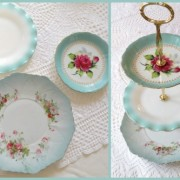 Custom vintage china cake plate stand