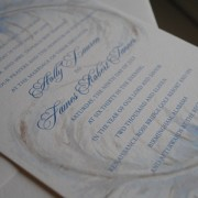 Blue Feather Wedding Invite