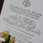 JJ Monogram Wedding Invitation