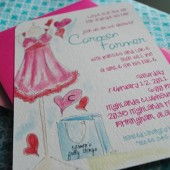 Bachelorette & Lingerie Invitation