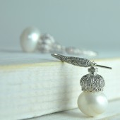 Pearl and Sterling Silver Crystal Bead Cap