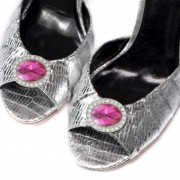 Pink Topaz Magnetic Shoe Clips