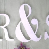 Wood Ampersand and Initials