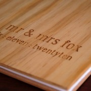 pine engraved guest book