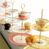 Vintage china cupcake display stand