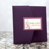 5x5 Scroll Pocketfold Wedding Invitation