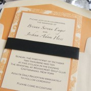 5x7 Modern Regalia Invitation