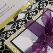 Kraft Square Favor Box - Purple and Green