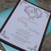 Whimsical Vintage Love Brids Invitation