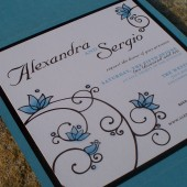 Whimsical Floral Invitation