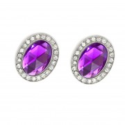 Purple Amethyst Magnetic Shoe Clips