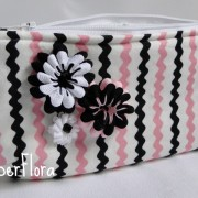 cosmetic bag rick rack