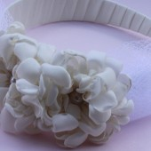 Melody- bridal flower headband with bow netting  Melody- bridal flower headband with bow netting