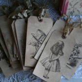 alice in wonderland table number tags