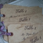 escort card tags