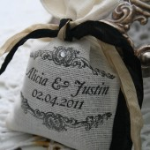 custom tea or lavender sachet favor