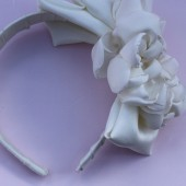 Celeste- bridal flower headband with bow