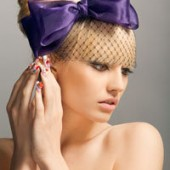 Hope: bow headband with black netting