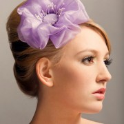 Berry- Purple flower clip