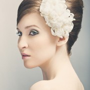 Jennifer : double happiness bridal flower hair clip