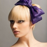 HOPE- Purple Bow Headband