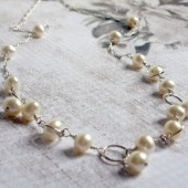 Bubbly Freshwater Pearl and Sterling Silver Necklace