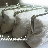 Bridesmaids Custom Clutches by Lolis Creations