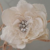 Vintage inspired bridal brooch