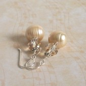 Kismet Freshwater Pearl, Swarovski Crystal and Sterling Silver Earrings