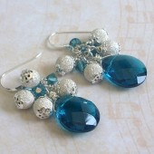 Revolve Blue Quartz and Sterling Silver Dangle Earrings